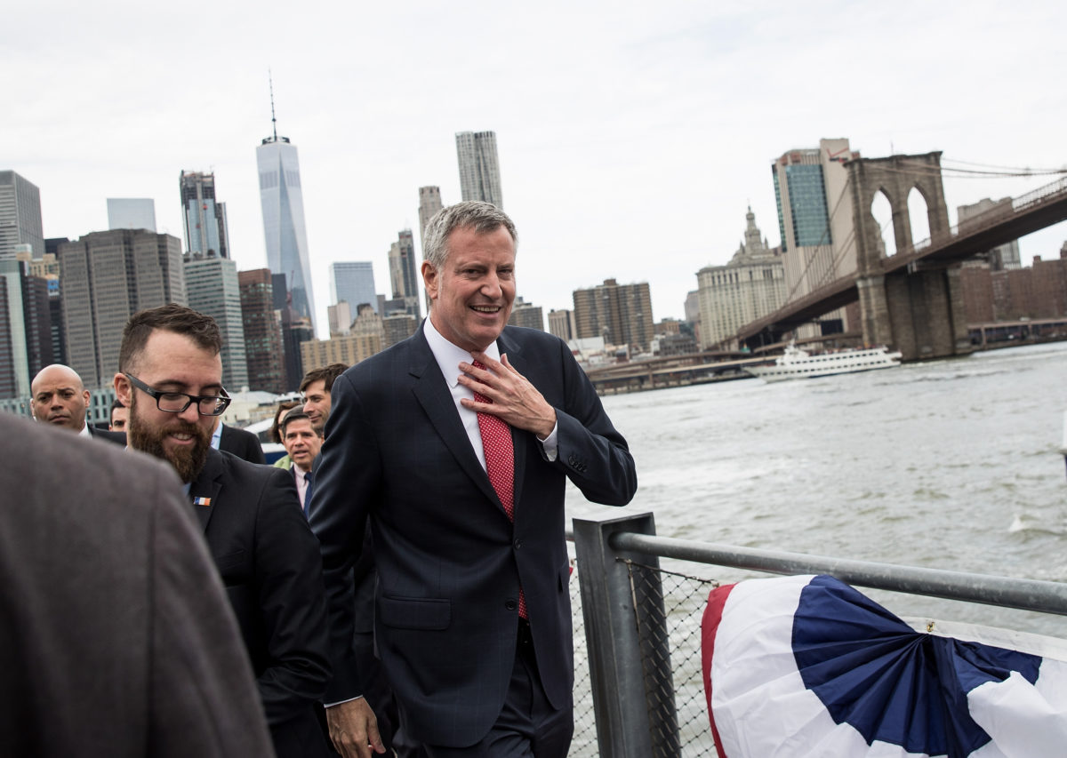 New York City Mayor Bill De Blasio will sue fossil fuel companies for climate impacts