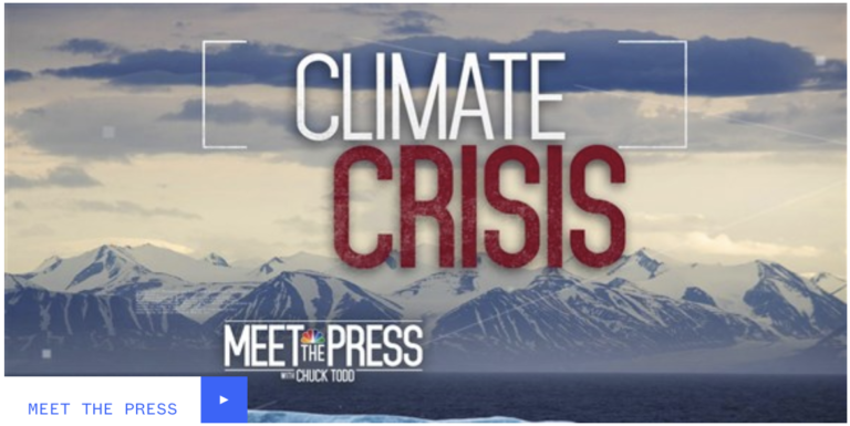 Climate denial group CEI targeted Meet the Press for not interviewing deniers on climate